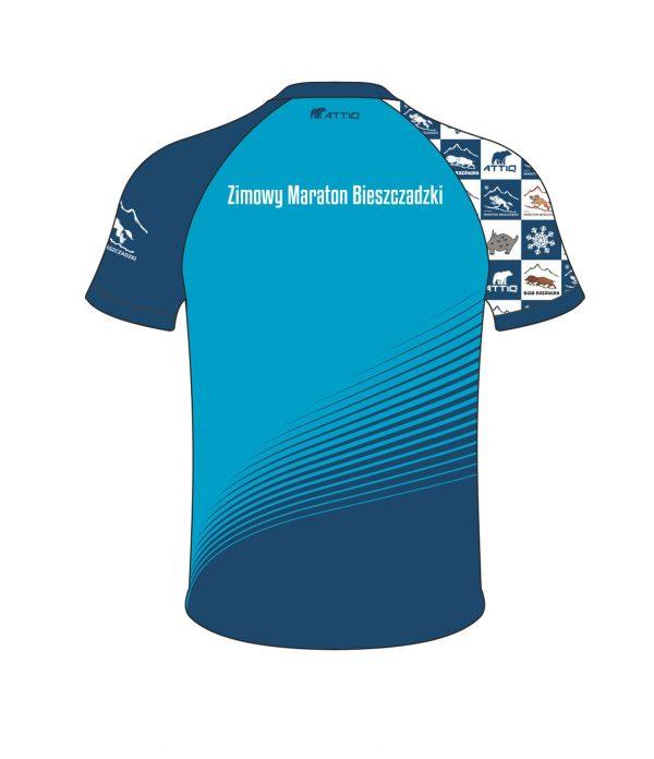 Zimowy Maraton Bieszczadzki t-shirt męski