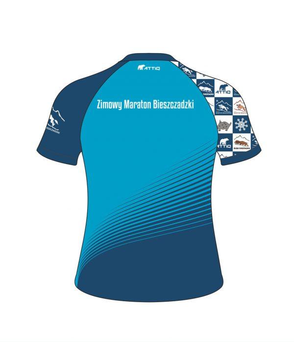 Zimowy Maraton Bieszczadzki t-shirt damski