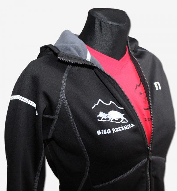 Rzeźnik - męska bluza biegowa czarna