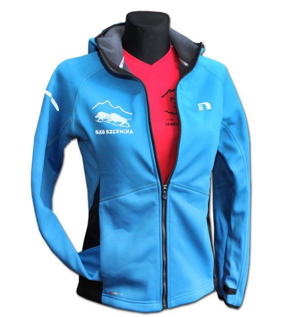 Rzeźnik - damska bluza biegowa niebieska