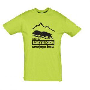 """Koszulka męska """"Każdy jest Rzeźnikiem swojego losu"""" zielona (Kopia)"""